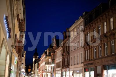 Beautiful Buildings Of Heidelberg Stock Photo