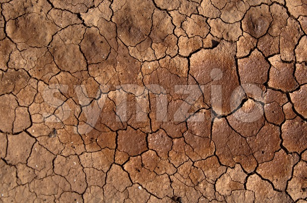 Cracked and dried soil under the Sun on Lanzarote, Canary Islands, Spain