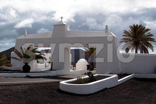 Entrance Building  of Costa Teguise, Lanzarote Stock Photo