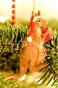 Christmas Tree Decoration: Australian Kangaroo Stock Photo