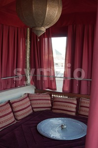 Traditional Riad Tent In Marrakesh Stock Photo