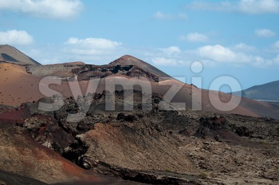 Vulcanic Landscape Stock Photo