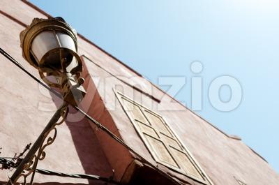Marrakech street lamp Stock Photo