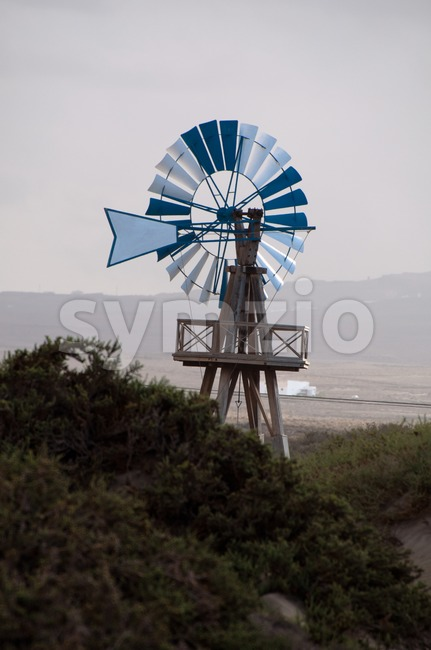 Typical Old Windmill on Lanzarote Stock Photo