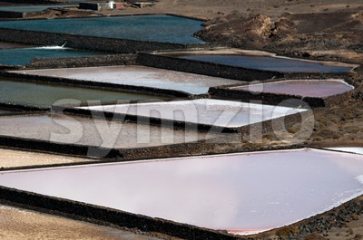 Saline on Lanzarote Stock Photo