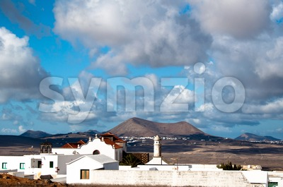 Lanzarote Landscape Stock Photo
