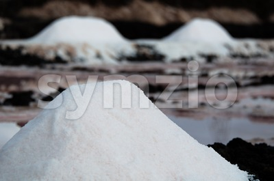 Salt Piles On A Saline Stock Photo