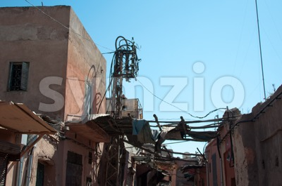 Street Scenery In The Medina Of Marrakech Stock Photo