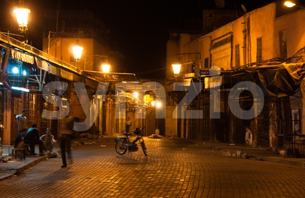 Marrakech at night Stock Photo