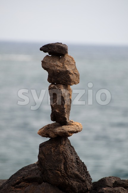 Rock Pile or Pepple sculpture Stock Photo