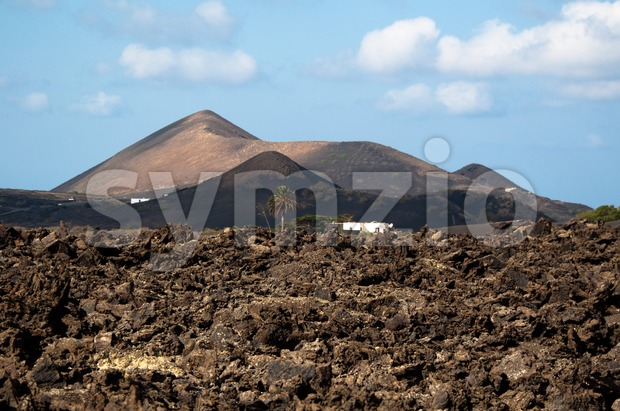 Lanzarote Scenery Stock Photo