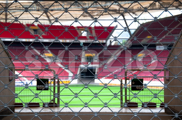 Locked Stadium Stock Photo