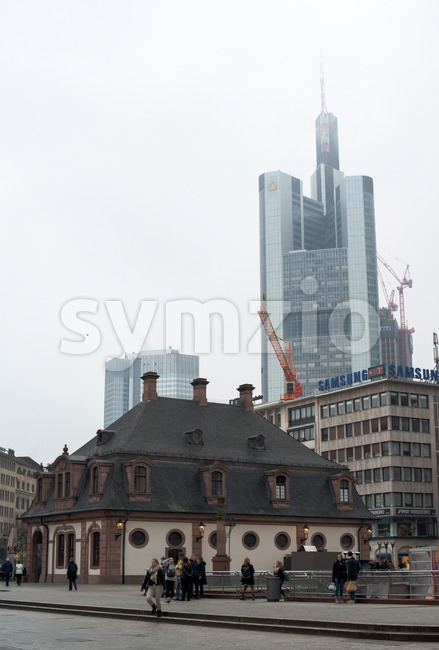 Hauptwache in Frankfurt Stock Photo