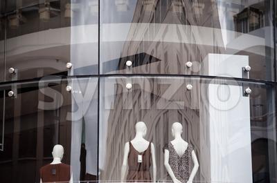 Boutique Window Stock Photo