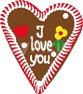 Oktoberfest Gingerbread Heart Stock Photo
