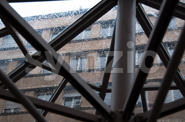Modern Facade on a rainy day Stock Photo